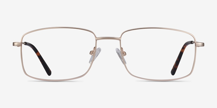 Onex Gold Metal Eyeglass Frames from EyeBuyDirect, Front View