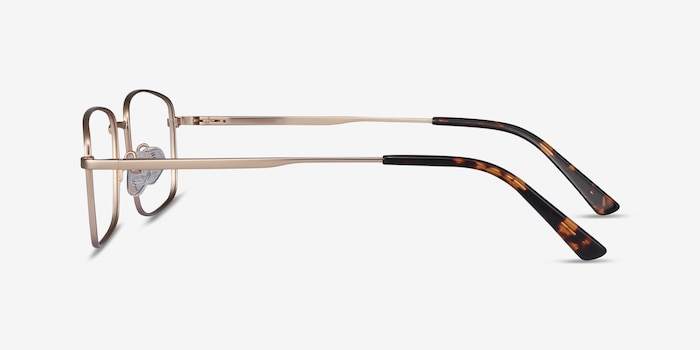 Onex Gold Metal Eyeglass Frames from EyeBuyDirect, Side View