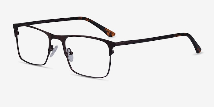 Vigo Coffee Metal Eyeglass Frames from EyeBuyDirect, Angle View