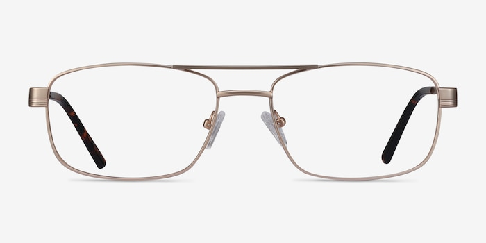 Stan Gold Metal Eyeglass Frames from EyeBuyDirect, Front View