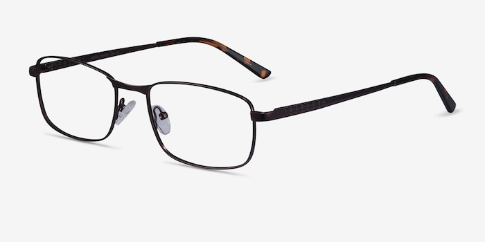 Madon Coffee Metal Eyeglass Frames from EyeBuyDirect, Angle View