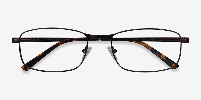 Madon Coffee Metal Eyeglass Frames from EyeBuyDirect, Closed View