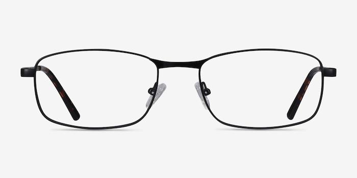 Madon Black Metal Eyeglass Frames from EyeBuyDirect, Front View