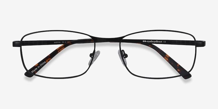 Madon Black Metal Eyeglass Frames from EyeBuyDirect, Closed View
