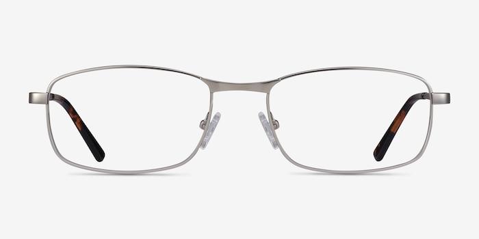 Madon Argenté Métal Montures de Lunette de vue d'EyeBuyDirect, Vue de Face