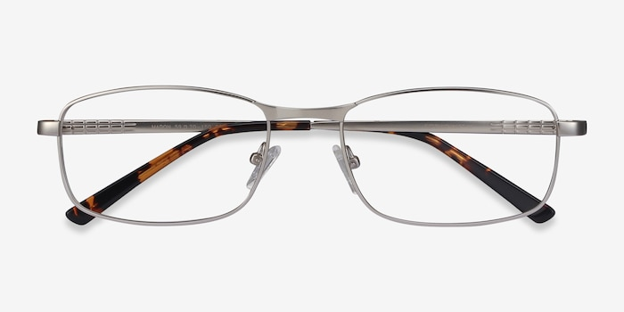 Madon Silver Metal Eyeglass Frames from EyeBuyDirect, Closed View