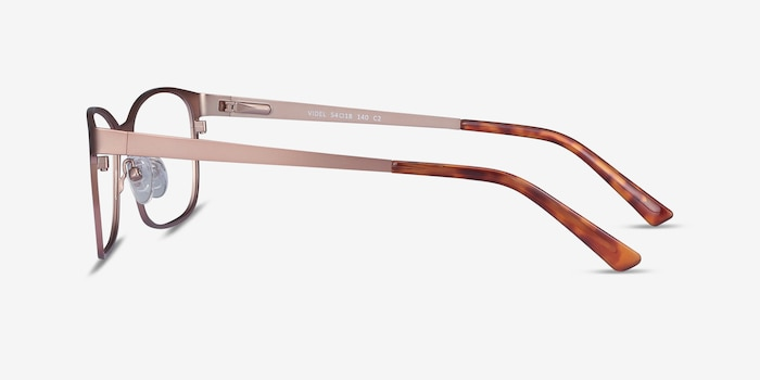 Videl Rose Gold Metal Eyeglass Frames from EyeBuyDirect, Side View