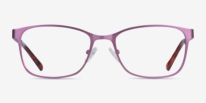 Videl Purple Metal Eyeglass Frames from EyeBuyDirect, Front View