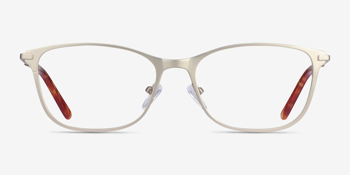 Modena Gold Metal Eyeglass Frames from EyeBuyDirect, Front View