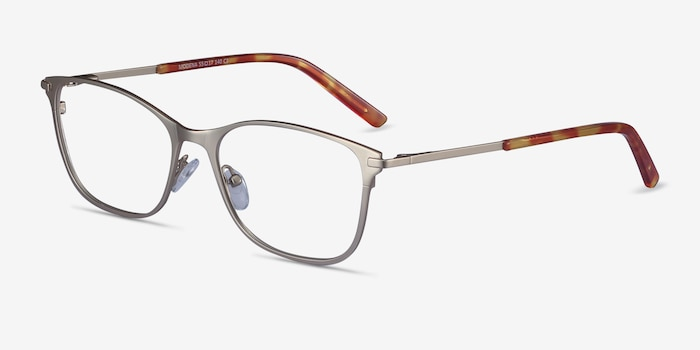 Modena Gold Metal Eyeglass Frames from EyeBuyDirect, Angle View