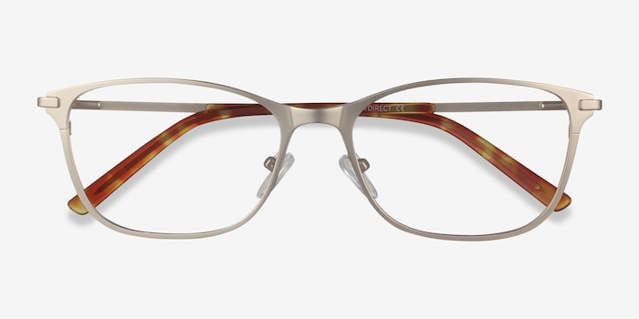 Modena Gold Metal Eyeglass Frames from EyeBuyDirect, Closed View