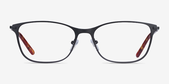Modena Black Metal Eyeglass Frames from EyeBuyDirect, Front View