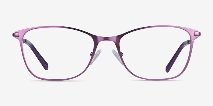 Kasia Purple Metal Eyeglass Frames from EyeBuyDirect, Front View