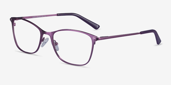 Kasia Purple Metal Eyeglass Frames from EyeBuyDirect, Angle View