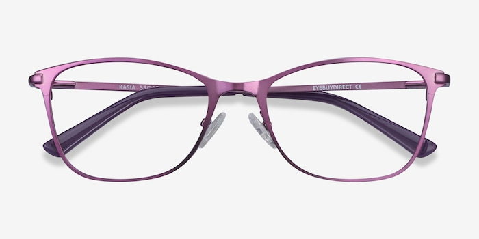 Kasia Purple Metal Eyeglass Frames from EyeBuyDirect, Closed View