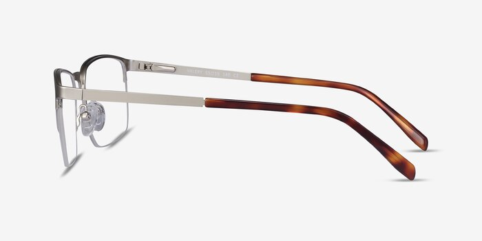 Valery Silver Metal Eyeglass Frames from EyeBuyDirect, Side View
