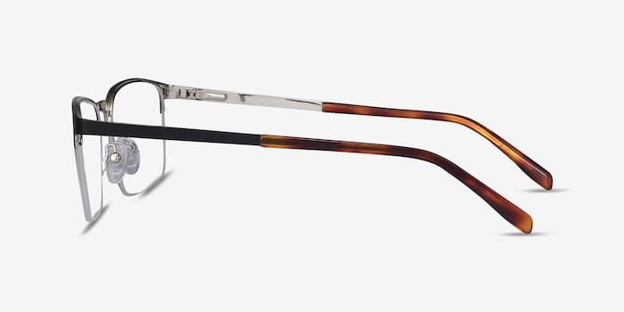 Valery Black Metal Eyeglass Frames from EyeBuyDirect, Side View