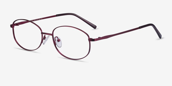 Embrace Purple Metal Eyeglass Frames from EyeBuyDirect, Angle View