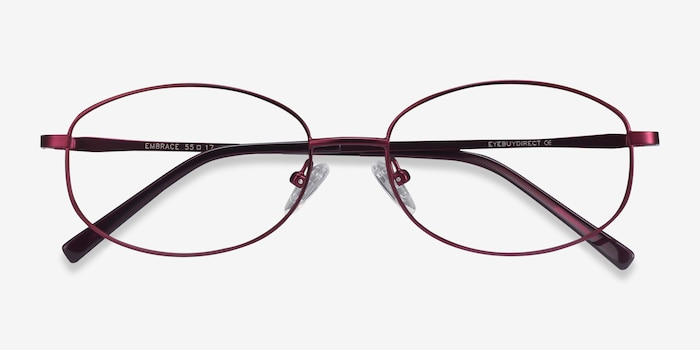 Embrace Purple Metal Eyeglass Frames from EyeBuyDirect, Closed View