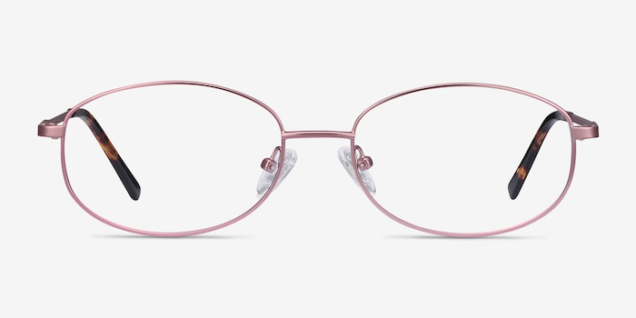 Embrace Pink Metal Eyeglass Frames from EyeBuyDirect, Front View