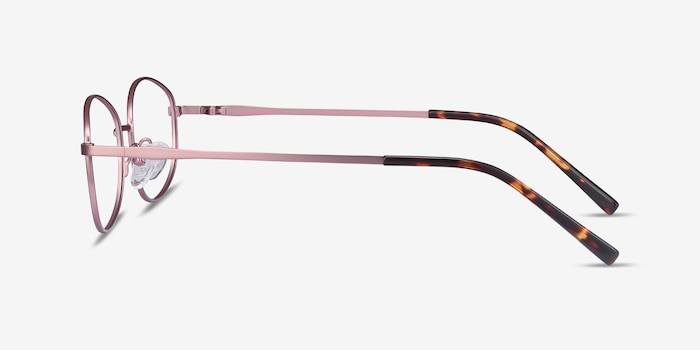 Embrace Pink Metal Eyeglass Frames from EyeBuyDirect, Side View