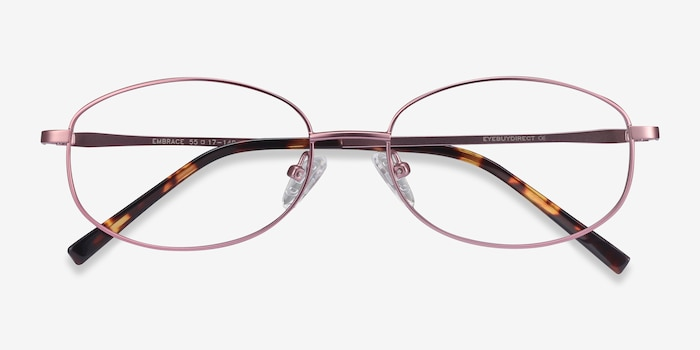 Embrace Pink Metal Eyeglass Frames from EyeBuyDirect, Closed View
