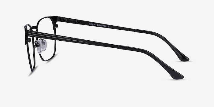 Soulist Black Metal Eyeglass Frames from EyeBuyDirect, Side View