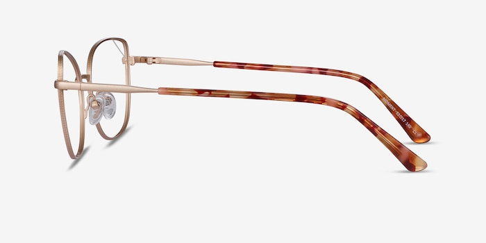 Moment Gold Metal Eyeglass Frames from EyeBuyDirect, Side View