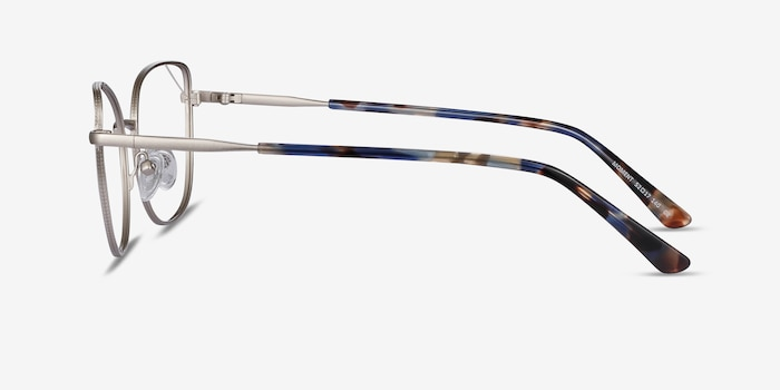 Moment Silver Metal Eyeglass Frames from EyeBuyDirect, Side View
