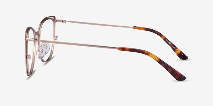 Garance Black Gold Metal Eyeglass Frames from EyeBuyDirect, Side View