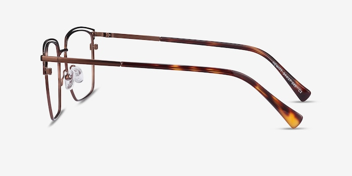 Hewitt Coffe Metal Eyeglass Frames from EyeBuyDirect, Side View
