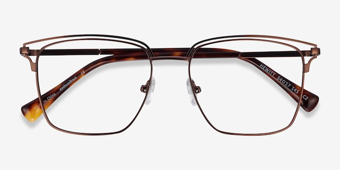 Hewitt Coffe Metal Eyeglass Frames from EyeBuyDirect, Closed View
