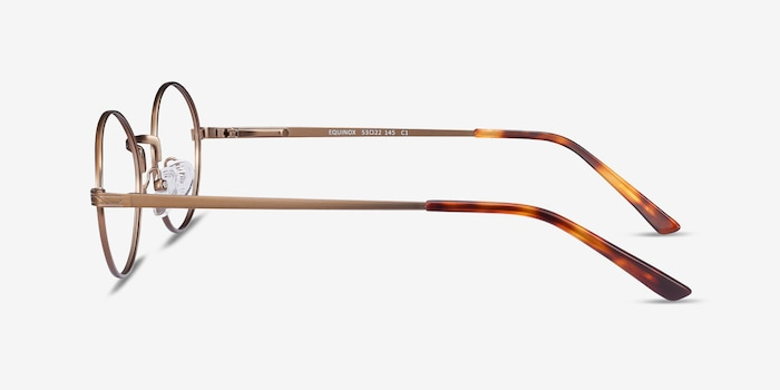 Equinox Bronze Metal Eyeglass Frames from EyeBuyDirect, Side View