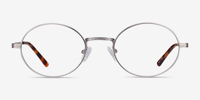 Equinox Gunmetal Metal Eyeglass Frames from EyeBuyDirect, Front View