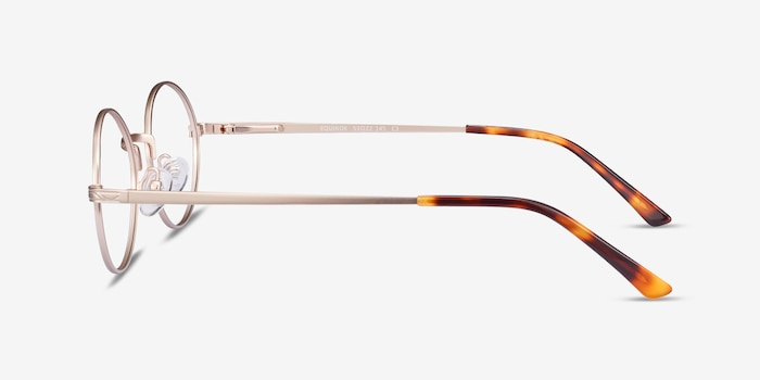 Equinox Gold Metal Eyeglass Frames from EyeBuyDirect, Side View