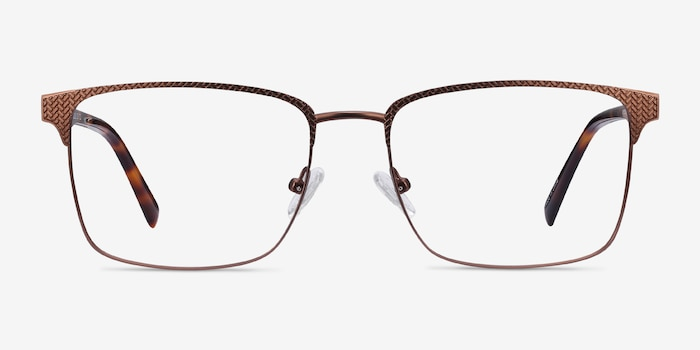 Capra Bronze Acetate Eyeglass Frames from EyeBuyDirect, Front View