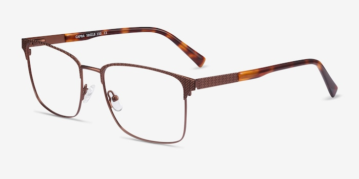 Capra Bronze Acetate Eyeglass Frames from EyeBuyDirect, Angle View