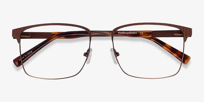 Capra Bronze Acetate Eyeglass Frames from EyeBuyDirect, Closed View