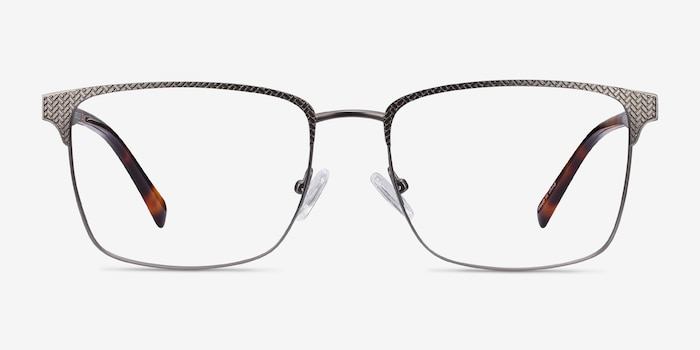 Capra Gunmetal Acetate Eyeglass Frames from EyeBuyDirect, Front View