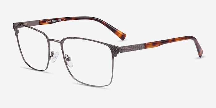 Capra Gunmetal Acetate-metal Eyeglass Frames from EyeBuyDirect, Angle View
