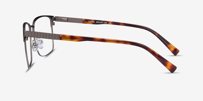 Capra Gunmetal Acetate Eyeglass Frames from EyeBuyDirect, Side View