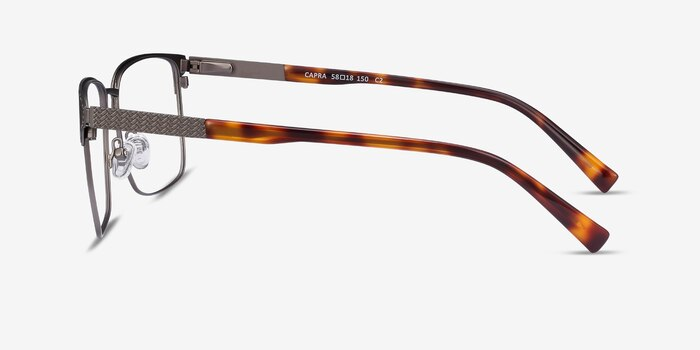 Capra Gunmetal Acetate-metal Eyeglass Frames from EyeBuyDirect, Side View