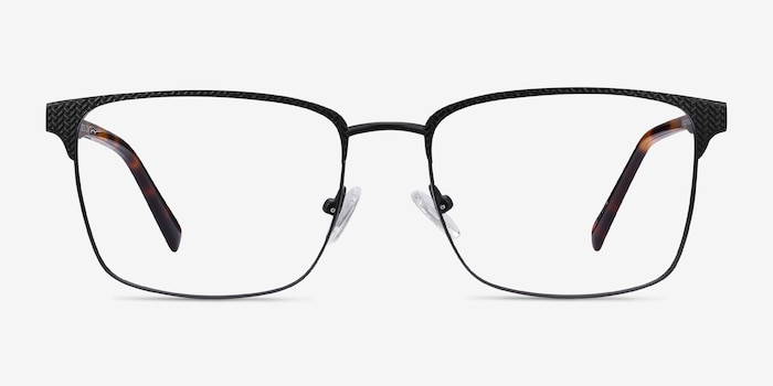 Capra Black Acetate-metal Eyeglass Frames from EyeBuyDirect, Front View