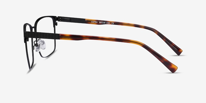 Capra Black Acetate-metal Eyeglass Frames from EyeBuyDirect, Side View