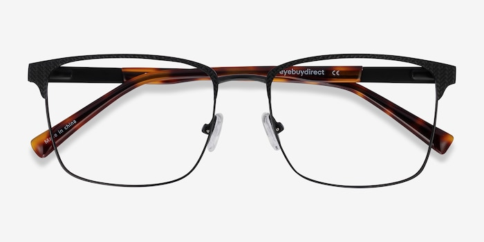 Capra Black Acetate-metal Eyeglass Frames from EyeBuyDirect, Closed View