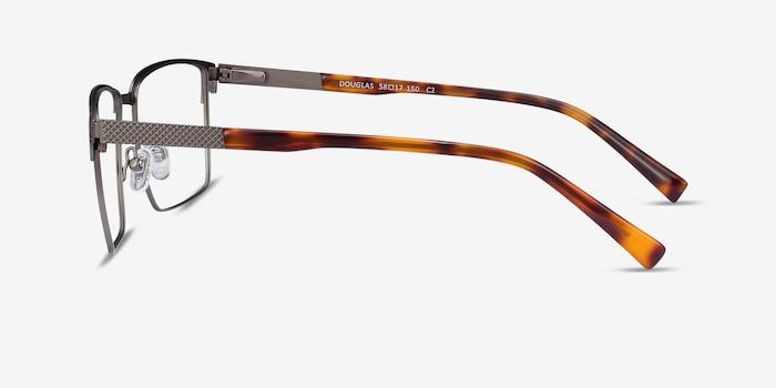 Douglas Gunmetal Metal Eyeglass Frames from EyeBuyDirect, Side View