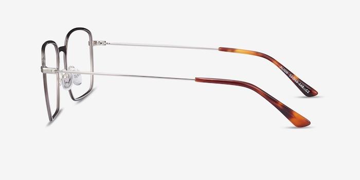 Align Gunmetal & Silver Metal Eyeglass Frames from EyeBuyDirect, Side View