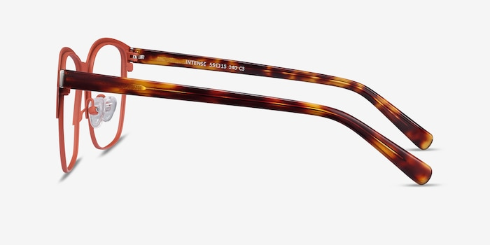 Intense Coral & Tortoise Metal Eyeglass Frames from EyeBuyDirect, Side View