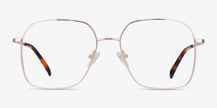 Roman Rose Gold Metal Eyeglass Frames from EyeBuyDirect, Front View