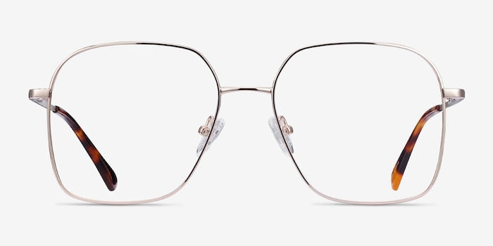 Roman Gold Metal Eyeglass Frames from EyeBuyDirect, Front View
